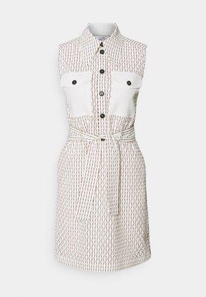 SLEEVLESS MINI SHIRT DRESS - Shirt dress - daisy white