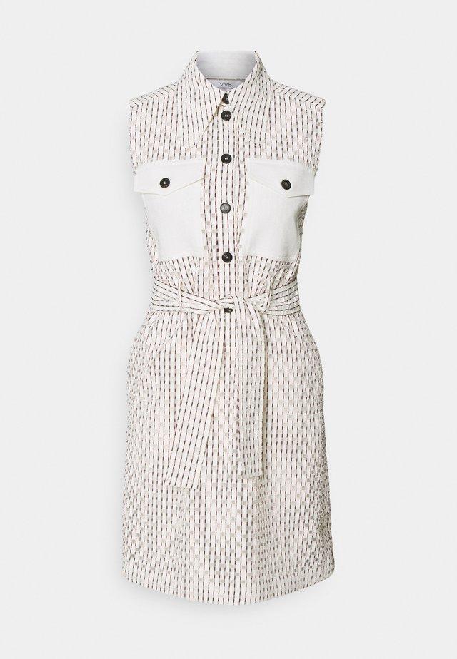 SLEEVLESS MINI SHIRT DRESS - Sukienka koszulowa - daisy white