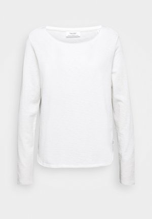 LONG SLEEVE CREW NECK REGULAR FIT - Long sleeved top - scandinavian white