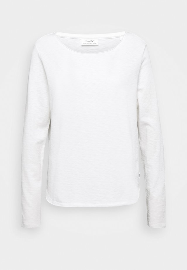 LONG SLEEVE CREW NECK REGULAR FIT - Pitkähihainen paita - scandinavian white