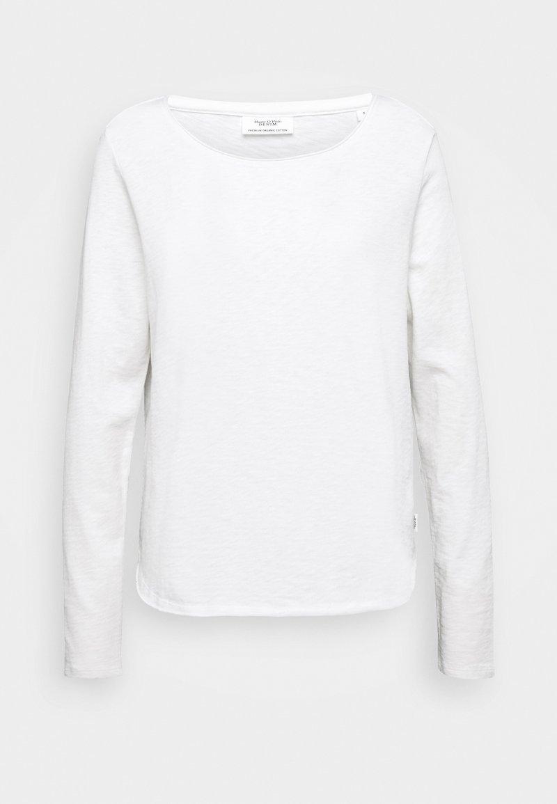 Marc O'Polo DENIM - LONGSLEEVE CREWNECK - Long sleeved top - scandinavian white