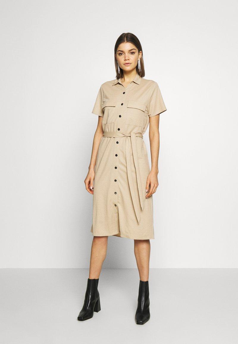 Vila - Košilové šaty - beige