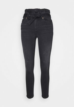 ONLHUSH LIFE PAPERBAG - Jeans Skinny Fit - black