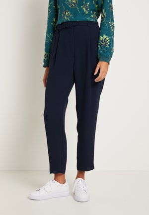 PANTS PLEATED WITH BELT - Trousers - sky captain blue