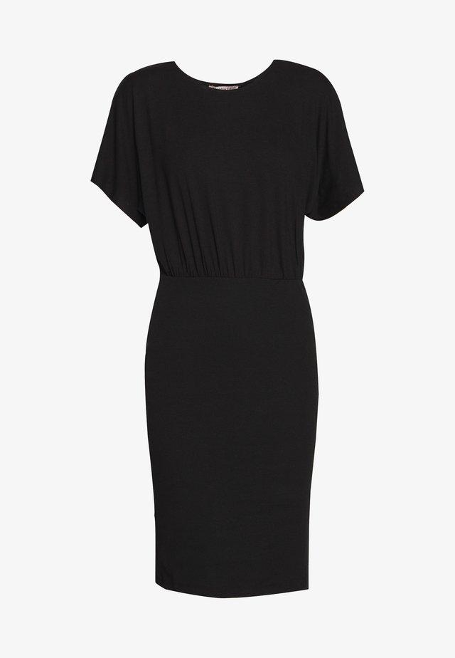 BASIC JERSEYKLEID - Vestito di maglina - black