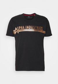 Printtipaita - black/copper