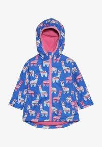 Hatley - KIDS ADORABLE ALPACAS - Waterproof jacket - blue - 2