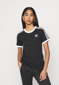 adidas Originals - STRIPES TEE - T-shirt print - black - 0