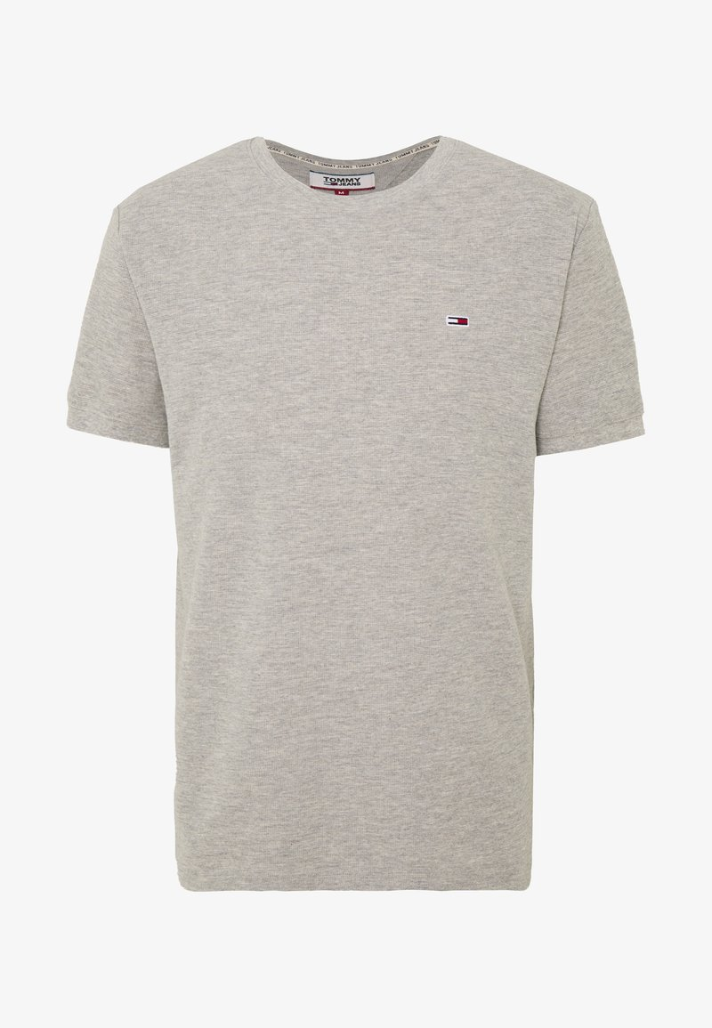 Tommy Jeans - MINI WAFFLE TEE - T-shirt basic - light grey heather