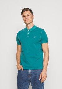 Marc O'Polo - SHORT SLEEVE BUTTON PLACKET COLLAR AND CUFF - Polo shirt - alpine teal - 0