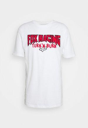ROADIE PREMIUM TEE - Print T-shirt - white