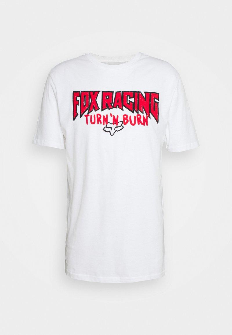 Fox Racing - ROADIE PREMIUM TEE - T-shirt z nadrukiem - white