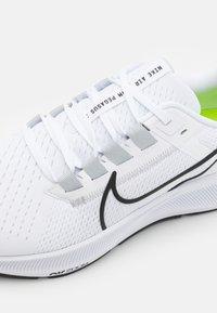 Nike Performance - AIR ZOOM PEGASUS 38 - Neutral running shoes - white/black/pure platinum/volt - 5