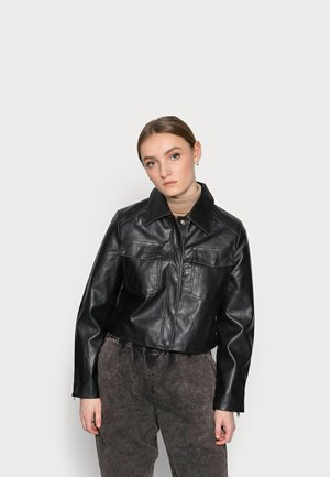 LADIES JACKET  - Faux leather jacket - black