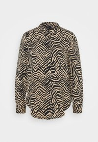 Marks & Spencer London - ZEBRA SPUN - Button-down blouse - black - 5