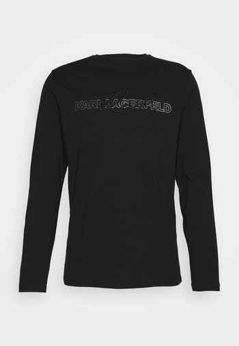 CREWNECK - Long sleeved top - black/silver