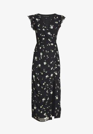 RUFFLE RUCHED MAXI - Maxi šaty - black