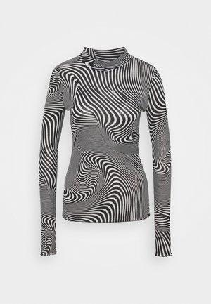 FIONA TURTLENECK PRINT - Long sleeved top - black/white