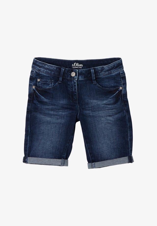 SLIM FIT - Jeansshort - blue