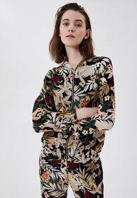 LIU JO - Zip-up sweatshirt - black with tropical print - 0