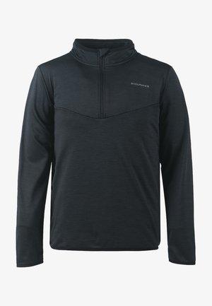 LEDGER M WAFFLE MELANGE - Long sleeved top - black