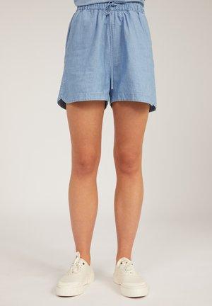 Denim shorts - foggy blue