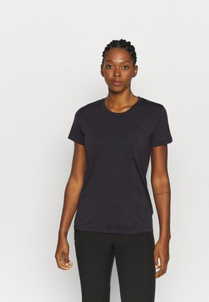NATURE DYE DRAYDEN POCKET CREW - T-Shirt basic - tannin
