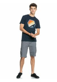 Quiksilver - FADING OUT  - Print T-shirt - navy blazer - 1