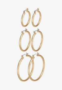 PCSELINDA EARRINGS 3 PACK - Orecchini - gold-coloured