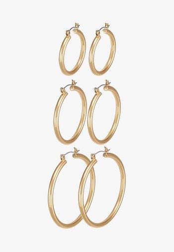 PCSELINDA EARRINGS 3 PACK - Pendientes - gold-coloured