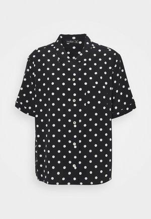 BENGI - Button-down blouse - schwarz