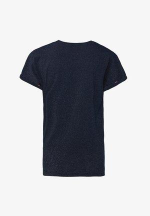 MEISJES MET GLITTERS EN KNOOPDETAIL - T-shirt print - dark blue