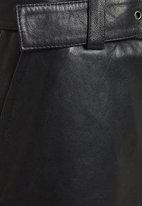 Gestuz - STORIA PANTS - Leather trousers - black - 6