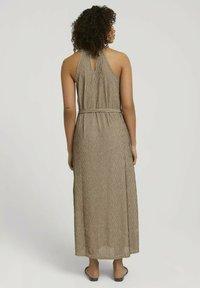 TOM TAILOR DENIM - Maxi dress - beige black structured stripe - 2
