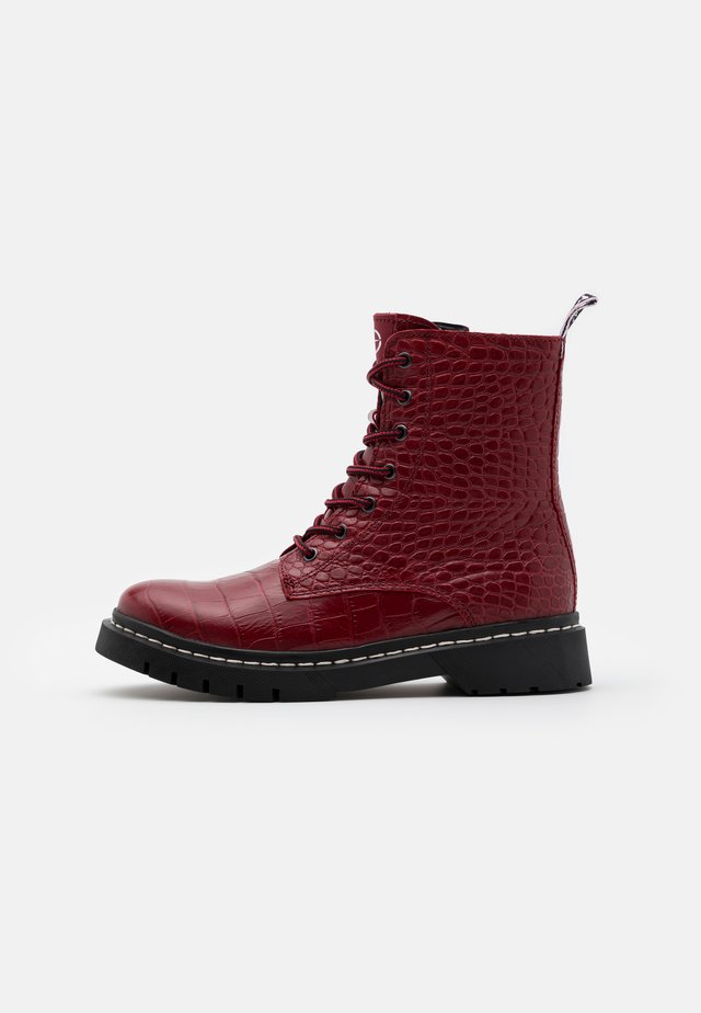 BOOTS - Platform ankle boots - red