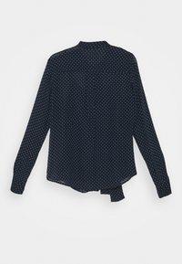 MICHAEL Michael Kors - PERFECT DOTS BOW BLOUSE - Button-down blouse - dark blue - 1