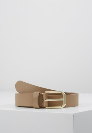 LEATHER - Belt - beige