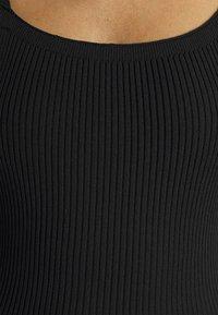 Missguided - SQUARE NECK MIDI DRESS - Day dress - black - 5