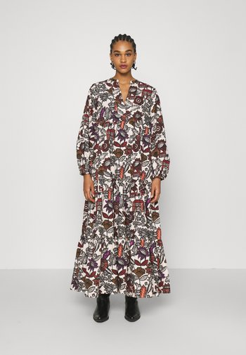 VOLUMINOUS PRINTED ORGANIC DRESS