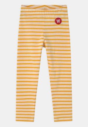 IRA UNISEX - Legging - off-white/yellow