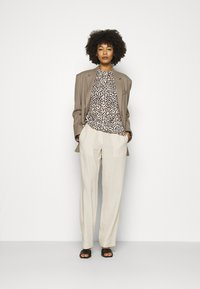 comma - Button-down blouse - beige