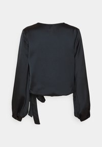 NU-IN - WRAP BALLOON SLEEVE - Blouse - black - 1