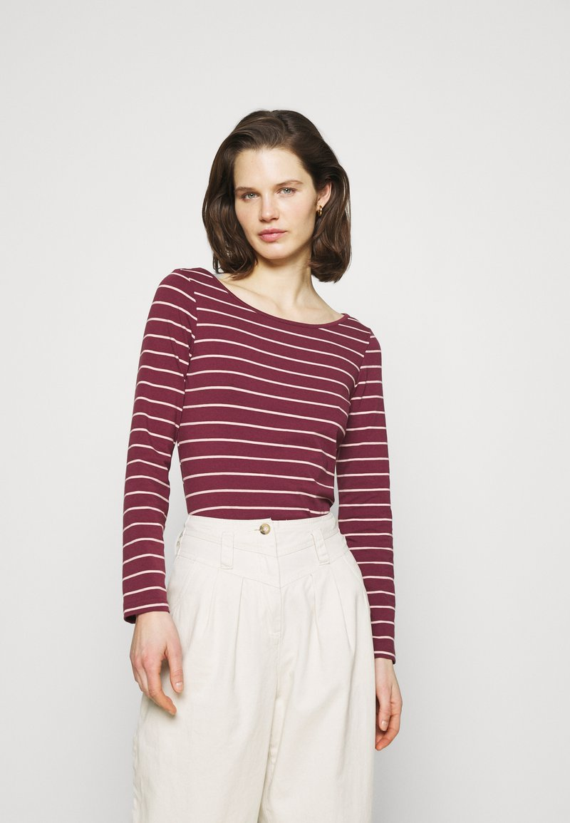 Anna Field - Langærmede T-shirts - dark red/camel