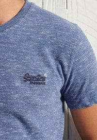 Superdry - OL VINTAGE EMB  - Basic T-shirt - tidal blue spacedye - 1