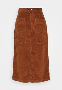 MIDI SKIRT - A-line skirt - chestnut