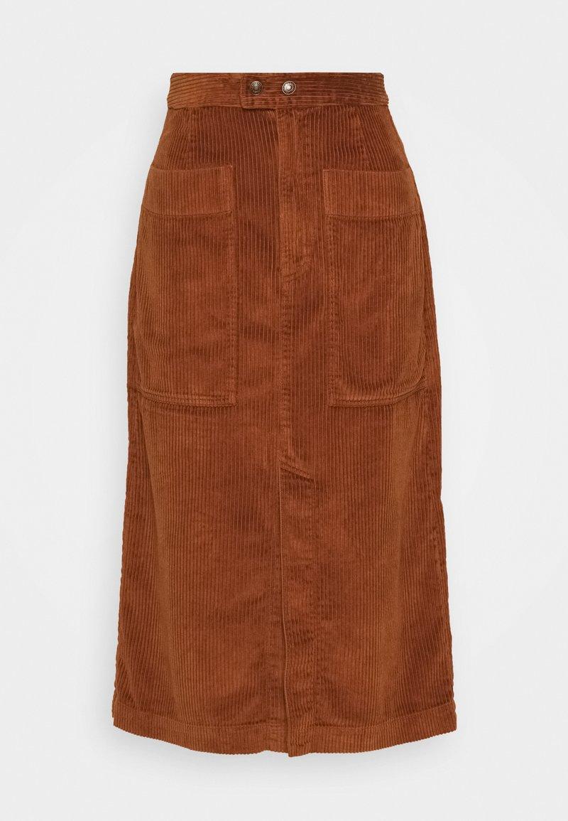 GAP - MIDI SKIRT - Áčková sukně - chestnut