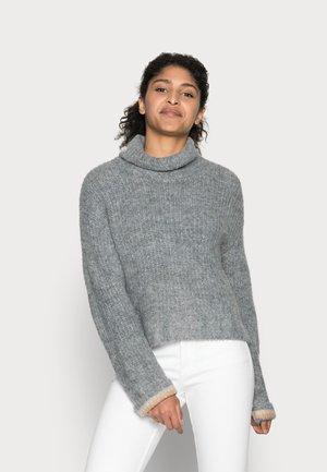 MIRANDA CROPED - Jumper - grey melange