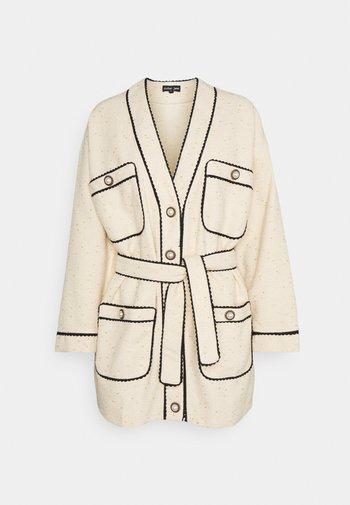 TIE BREAK TWEED LONGLINE CARDIGAN - Cardigan - beige