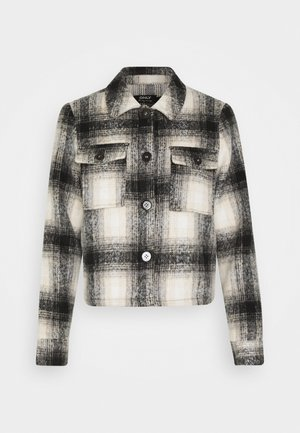 ONLLOU SHORT CHECK JACKET - Summer jacket - pumice stone