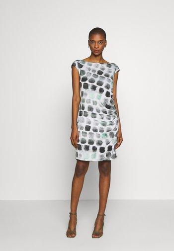 Shift dress - grey/green